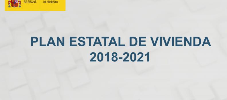 Plan de Vivienda 2018-2020, estrategias y medidas de fomento